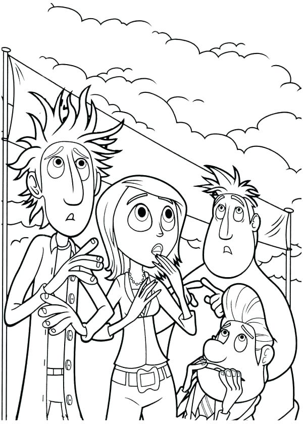 600x840 Coloring Pages Weather Cloudy With A Chance Of Meatballs Coloring