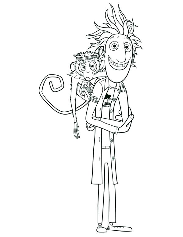 600x777 Pickle Coloring Page Flint And From Cloudy With A Chance