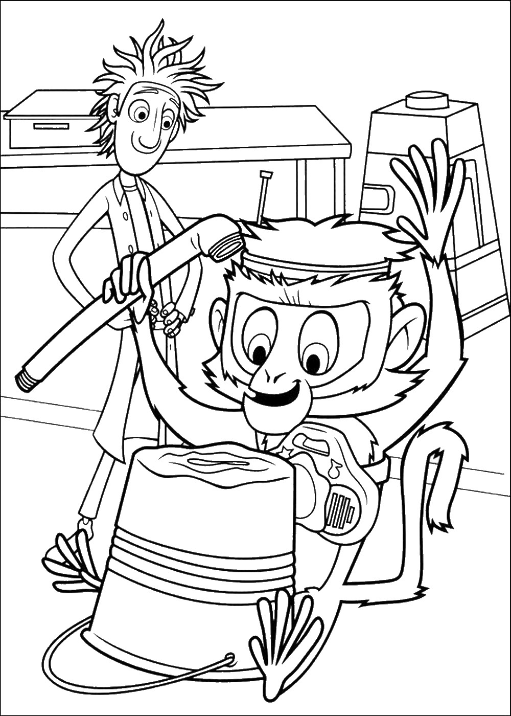 1000x1400 Book Cloudy With A Chance Of Meatballs Coloring Pages Barbie