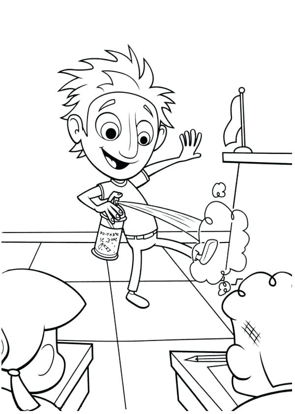 600x840 Cloudy With A Chance Of Meatballs Coloring Pages Pickle Coloring