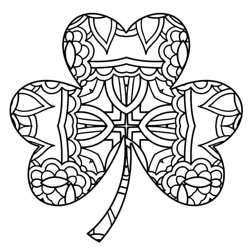 863x863 Three Leaf Clover Coloring Page Four Leaf Clover Rare Four Leaf