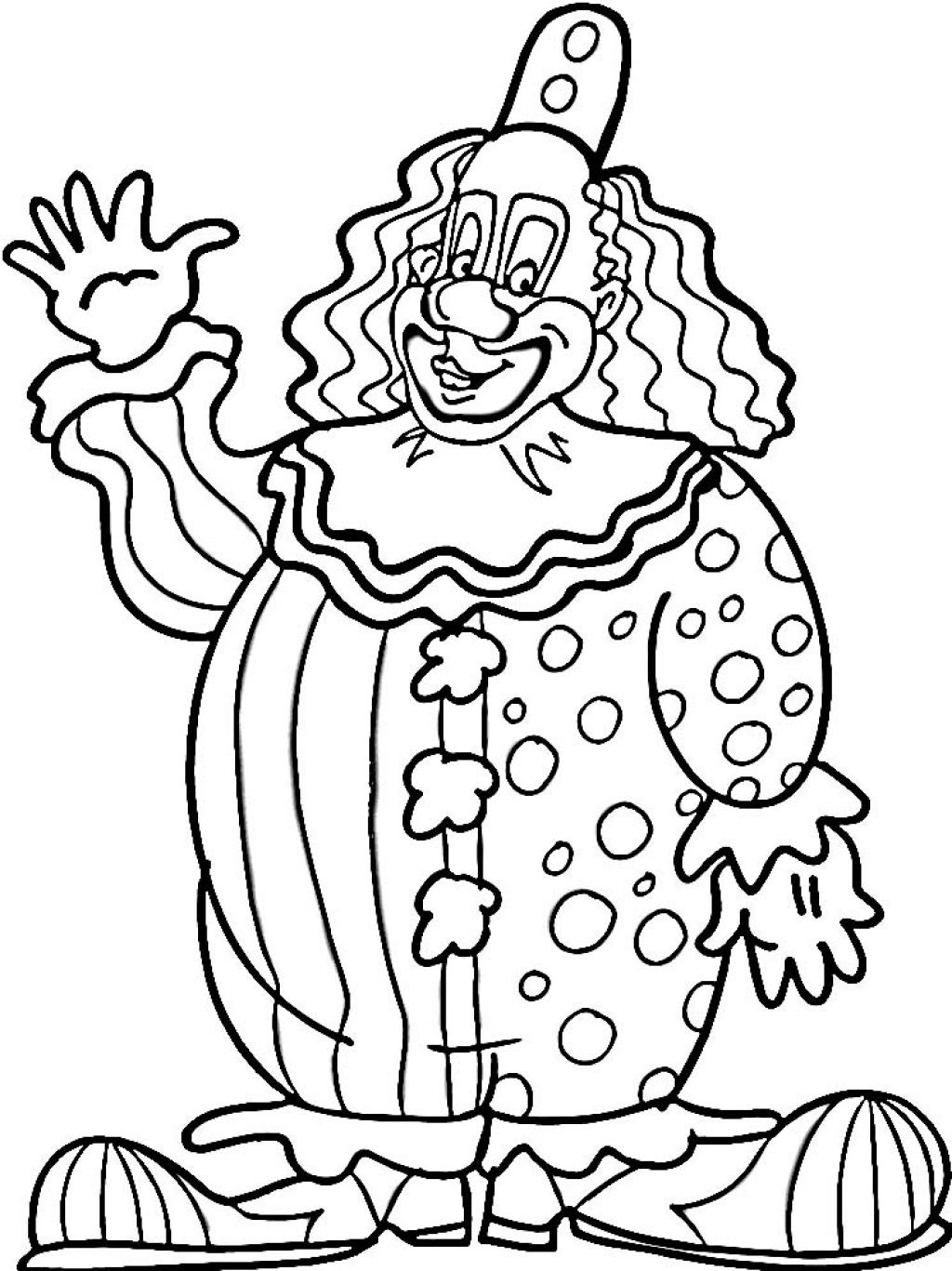 1024x1367 Clown Coloring Sheets Fish Page Adult Circus Pages For Preschool