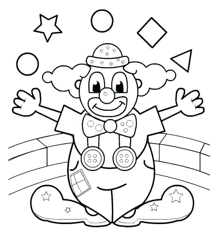 697x799 Coloring Pages Of Scary Clowns Clowns Coloring Pages Clowns
