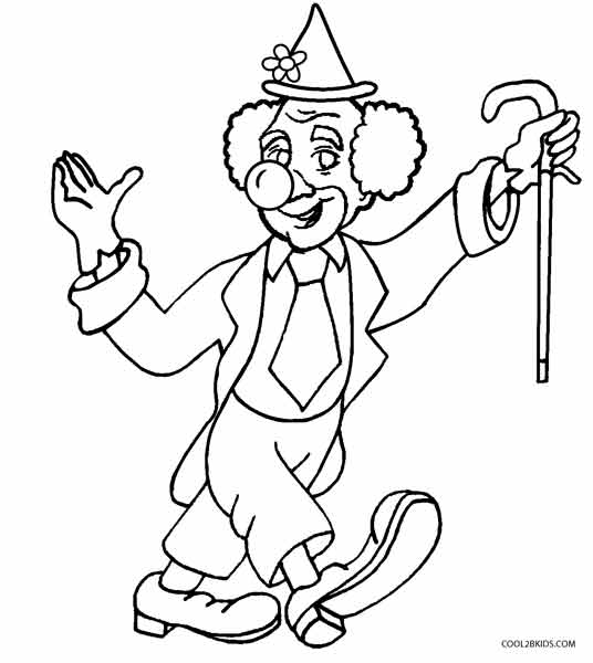 536x600 Printable Clown Coloring Pages For Kids