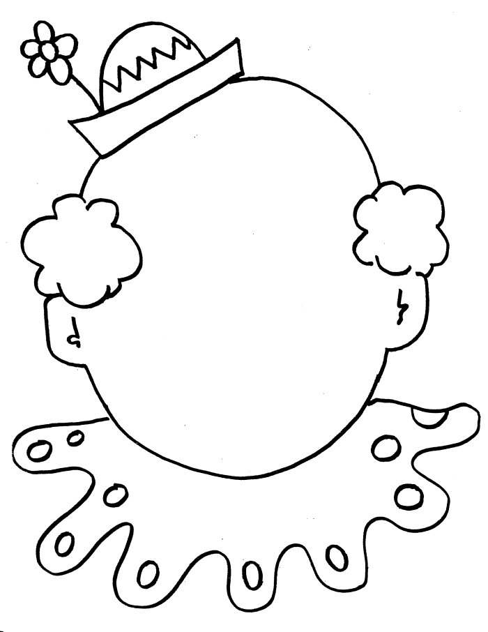 700x906 Circus Clown Face Coloring Page
