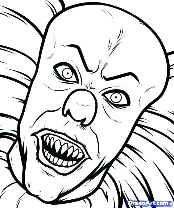 564x674 Clown Coloring Pages