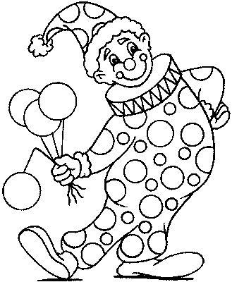 329x400 Clown Coloring Pages To Print