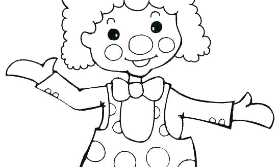 545x329 Clown Coloring Pages Clown Face Coloring Pages Circus Coloring