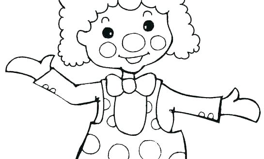 545x329 Clown Coloring Pages Clown Fish Coloring Page Clown Coloring Page