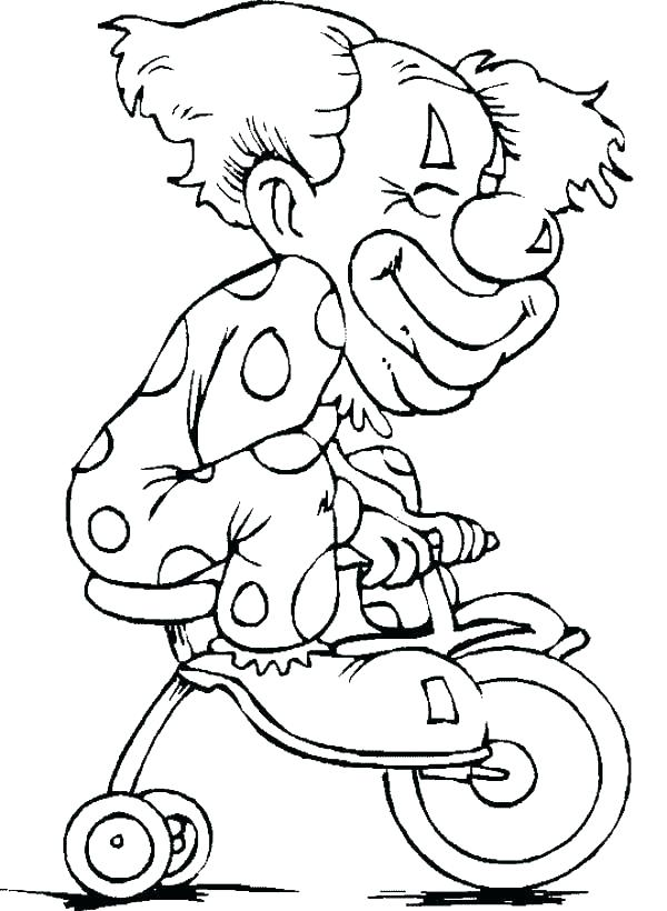 600x820 Clown Pictures To Color Clown Printable Coloring Pages Clown