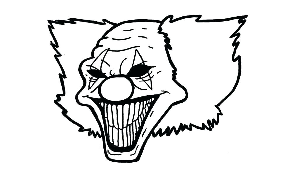 1024x604 Scary Clown Coloring Pages Scary Clown Coloring Pages Scary Clown