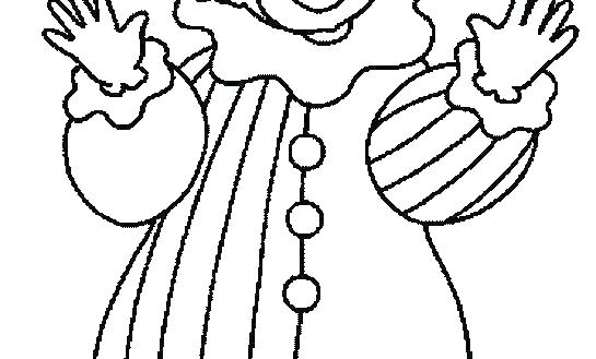 Clown Face Coloring Page At Getdrawings Com Free For Personal Use