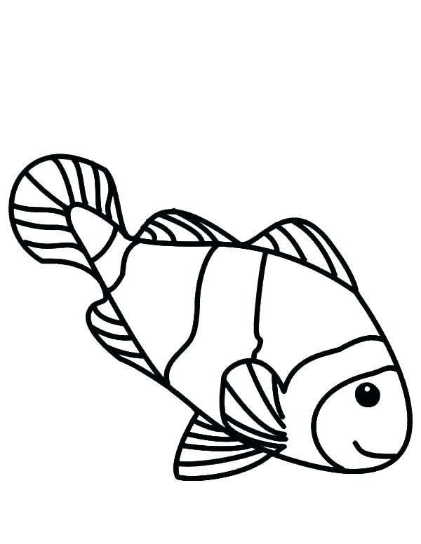 600x776 Clown Fish Coloring Page