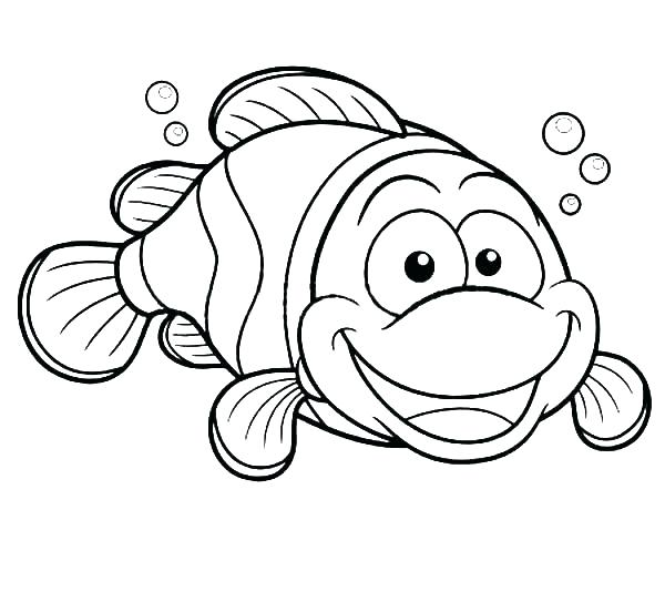 600x552 Clown Fish Coloring Pages Fish Coloring Pages Happy Clown Fish