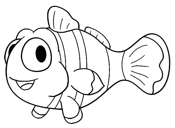 600x439 Cartoon Fish Coloring Pages Beautiful Clown Fish Coloring Pages