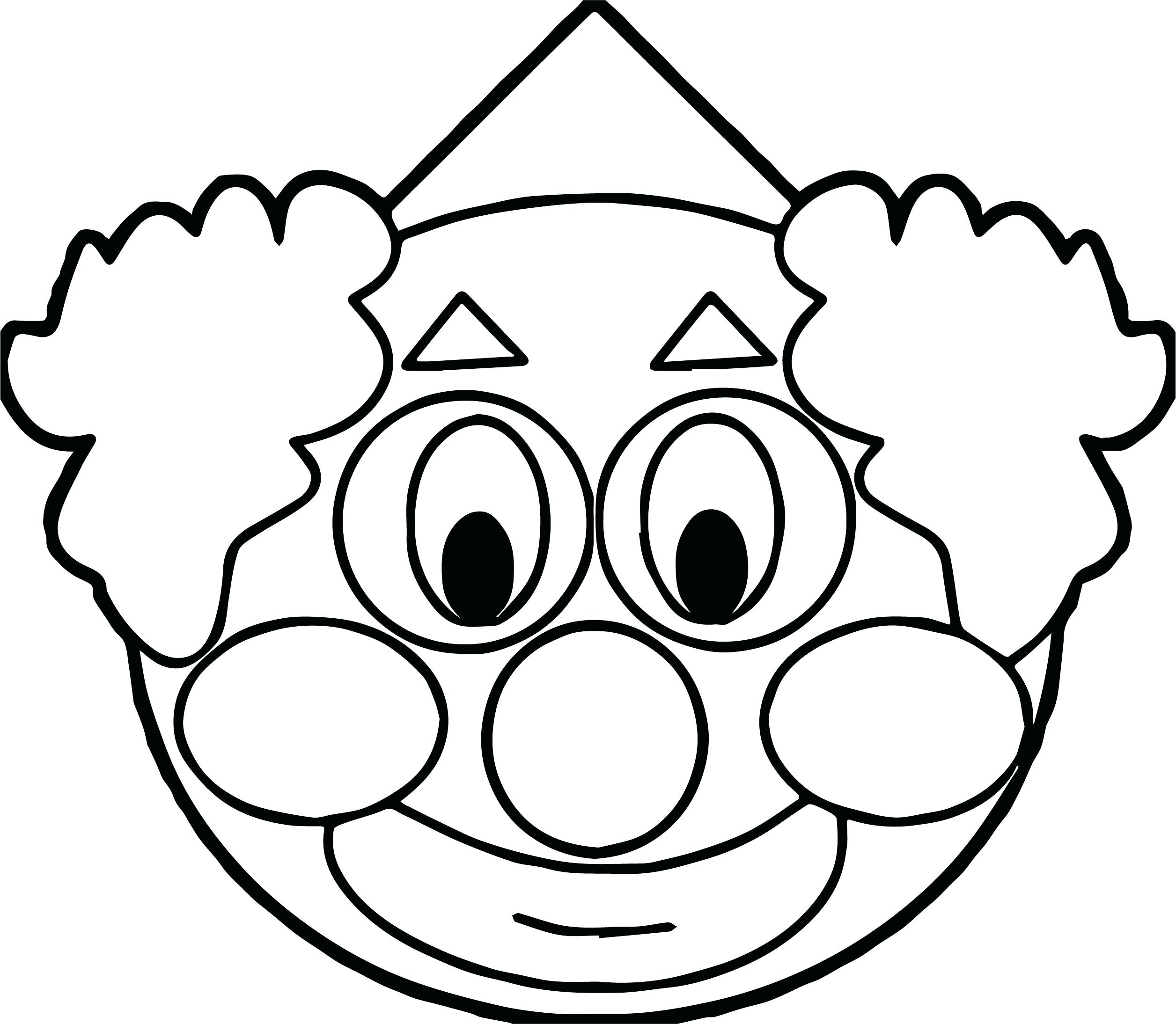 2512x2188 Coloring Pages Of Clowns With Balloons Scary Free Colouring Clown