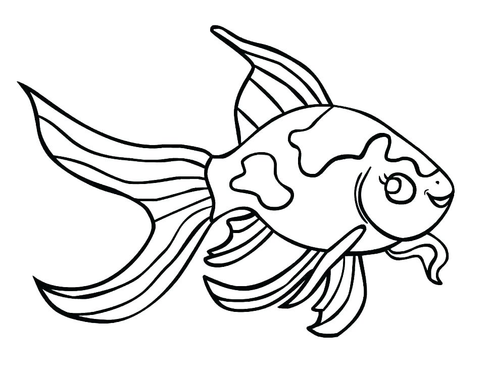 970x728 Fish Color Page Clown Fish Coloring Pages Goldfish Coloring Page