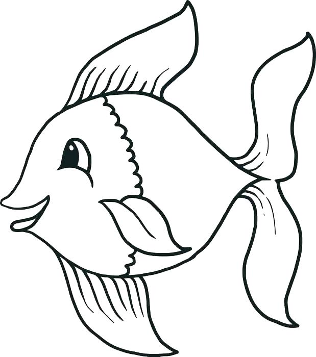 619x700 Fish Printable Coloring Pages Clown Fish Coloring Page Coloring