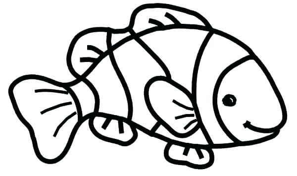 600x355 Clown Fish Printable Coloring Pages Color Pages Of Fish Fish Color