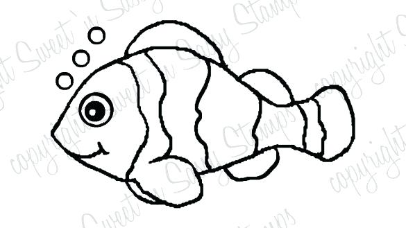 585x329 Clown Fish Coloring Page Clown Fish Coloring Pages How To Draw Com