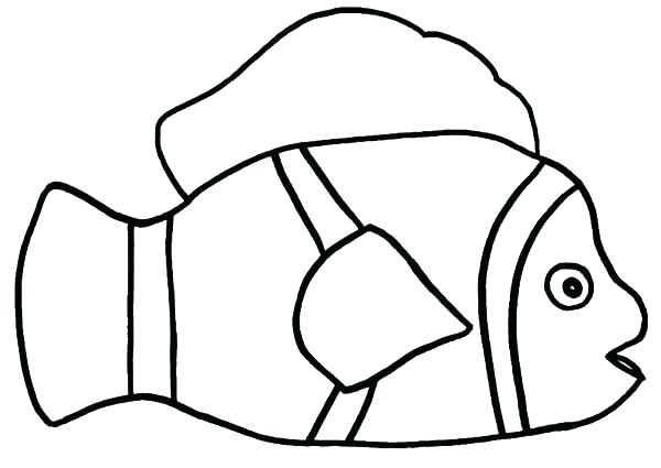 600x425 Clown Fish Coloring Page How To Draw A Clown Also How To Draw