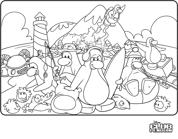 684x536 Penguin Coloring Pages