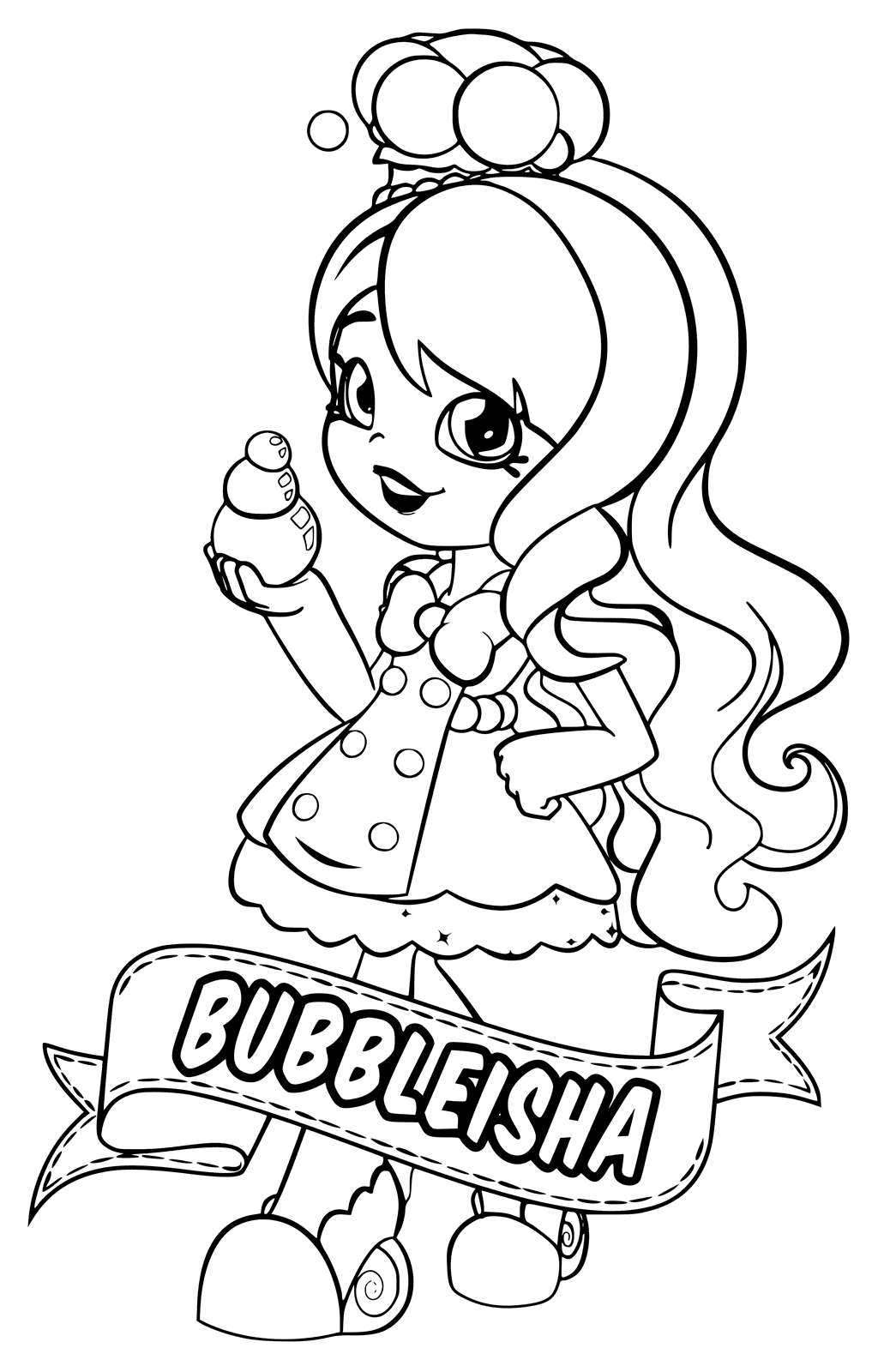 1024x1600 Shopkins Shoppies Bubbleisha From Chef Club Coloring Page