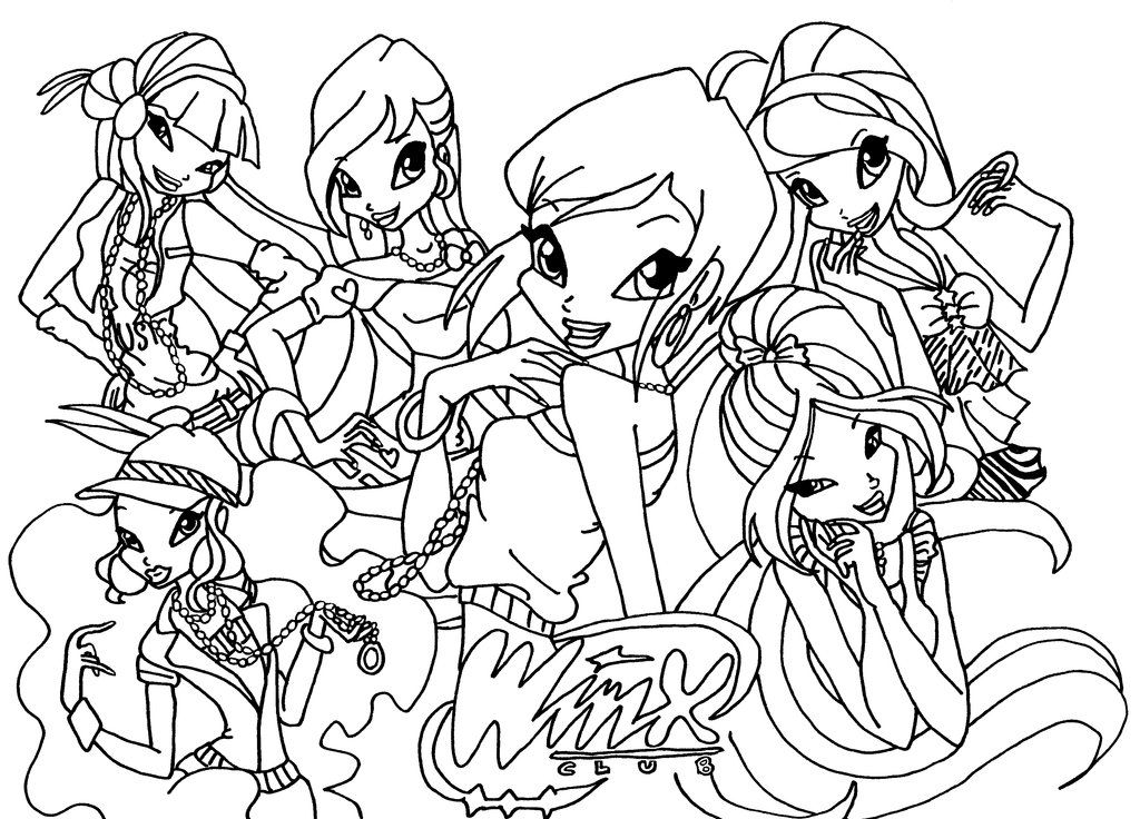1024x736 Winx Club Coloring Pages Coloring Pages Coloring Pages