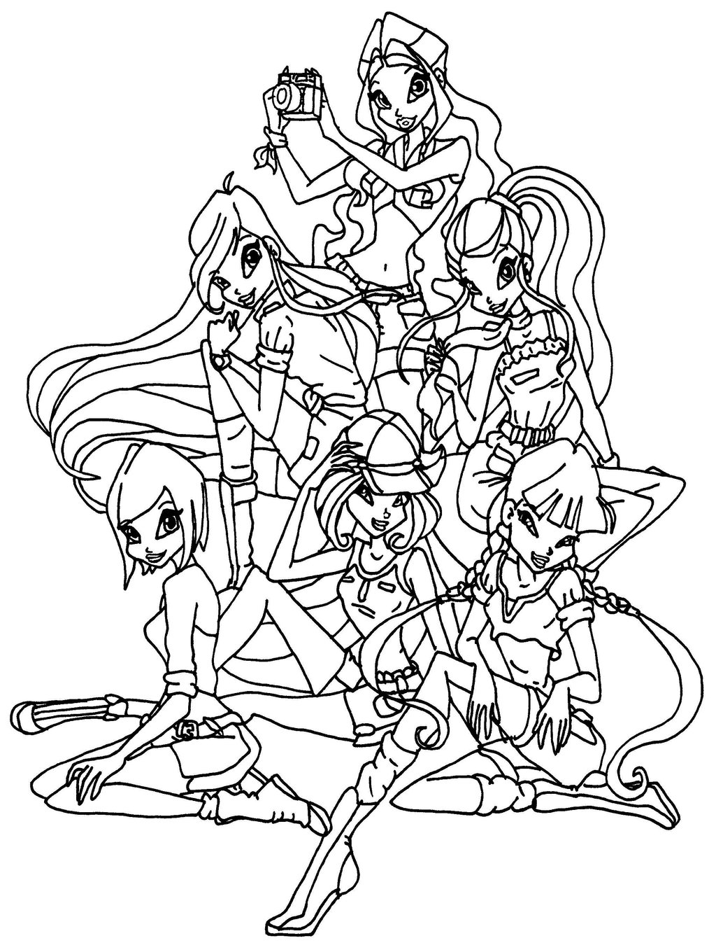 1024x1357 Winx Club Coloring Pages Printable Picture, Winx Club Coloring