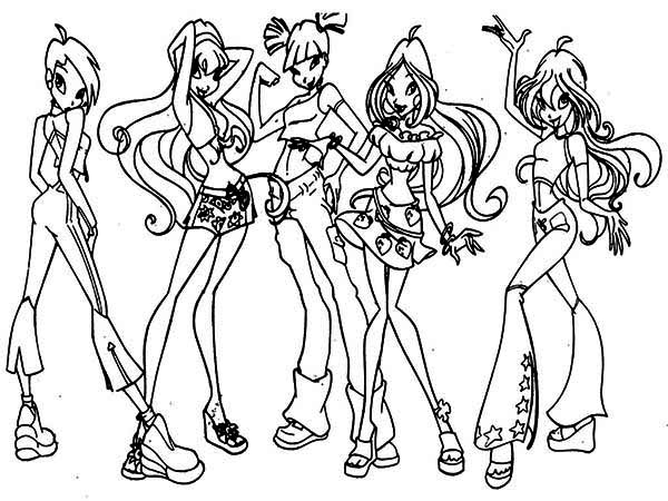 600x450 Winx Club Coloring Pages For Kids Batch Coloring