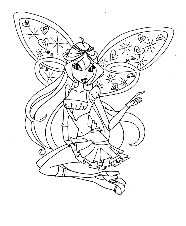 783x952 Believix Winx Club Coloring Pages