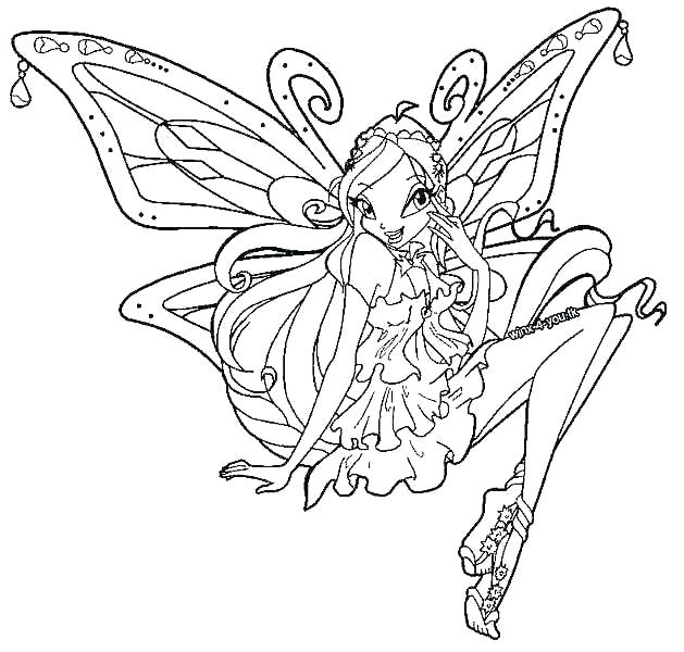 629x600 Winx Club Coloring Pages Layla Vanda