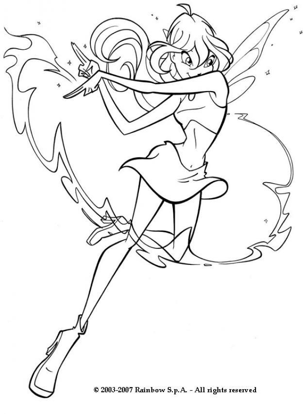 626x850 Bloom Having Magic Power Coloring Pages