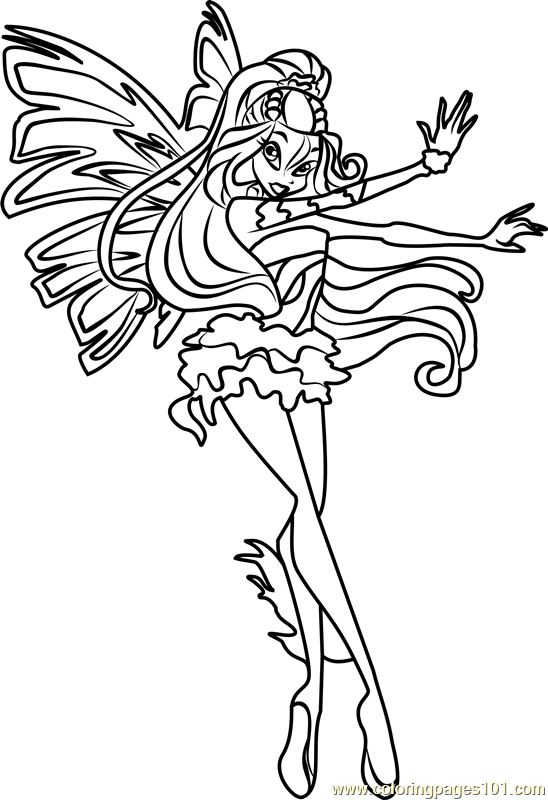 548x800 Daphne Winx Club Coloring Page
