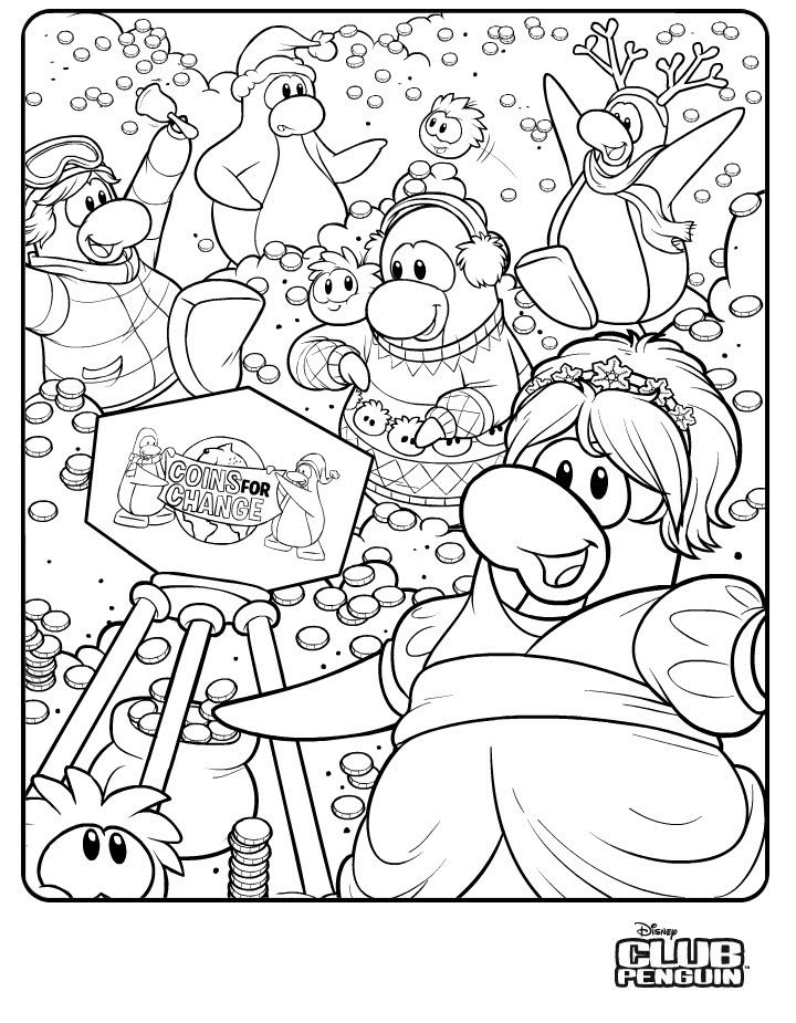 Club Penguin Coloring Pages at GetDrawings.com | Free for ...