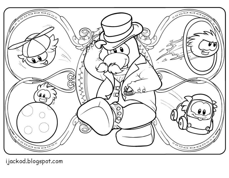925x720 Club Penguin Puffle Coloring Pages