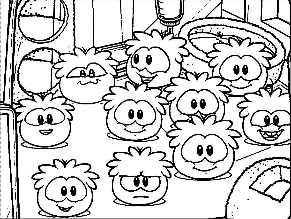 1203x904 Club Penguin Coloring Pages Coloringsuite Com Puffle At Club
