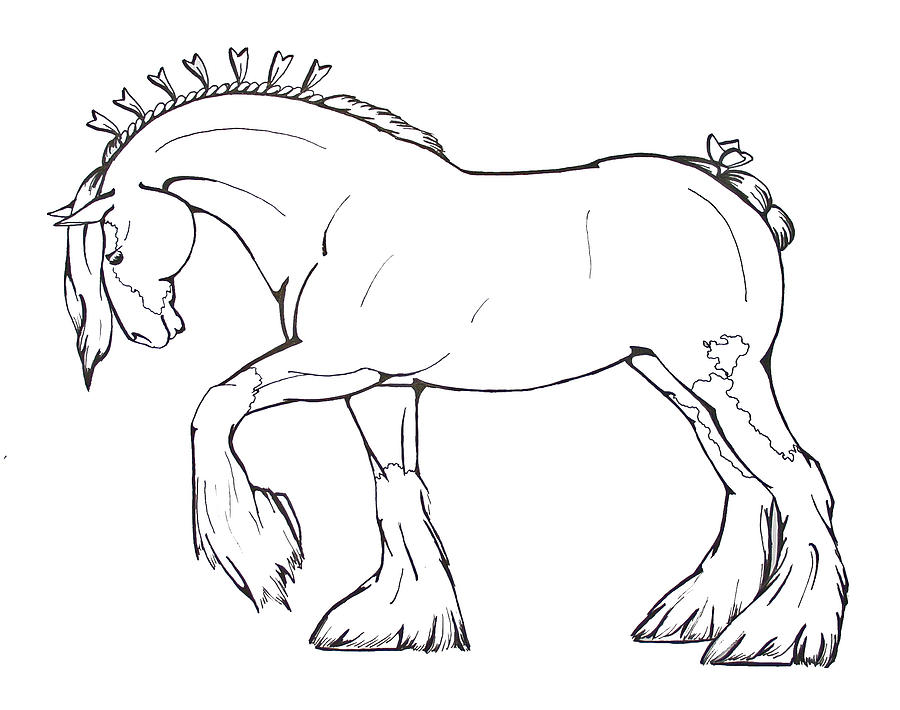 Clydesdale Horse Coloring Pages At Getdrawings Free For Rhgetdrawings: Clydesdale Horse Coloring Pages To Print At Baymontmadison.com