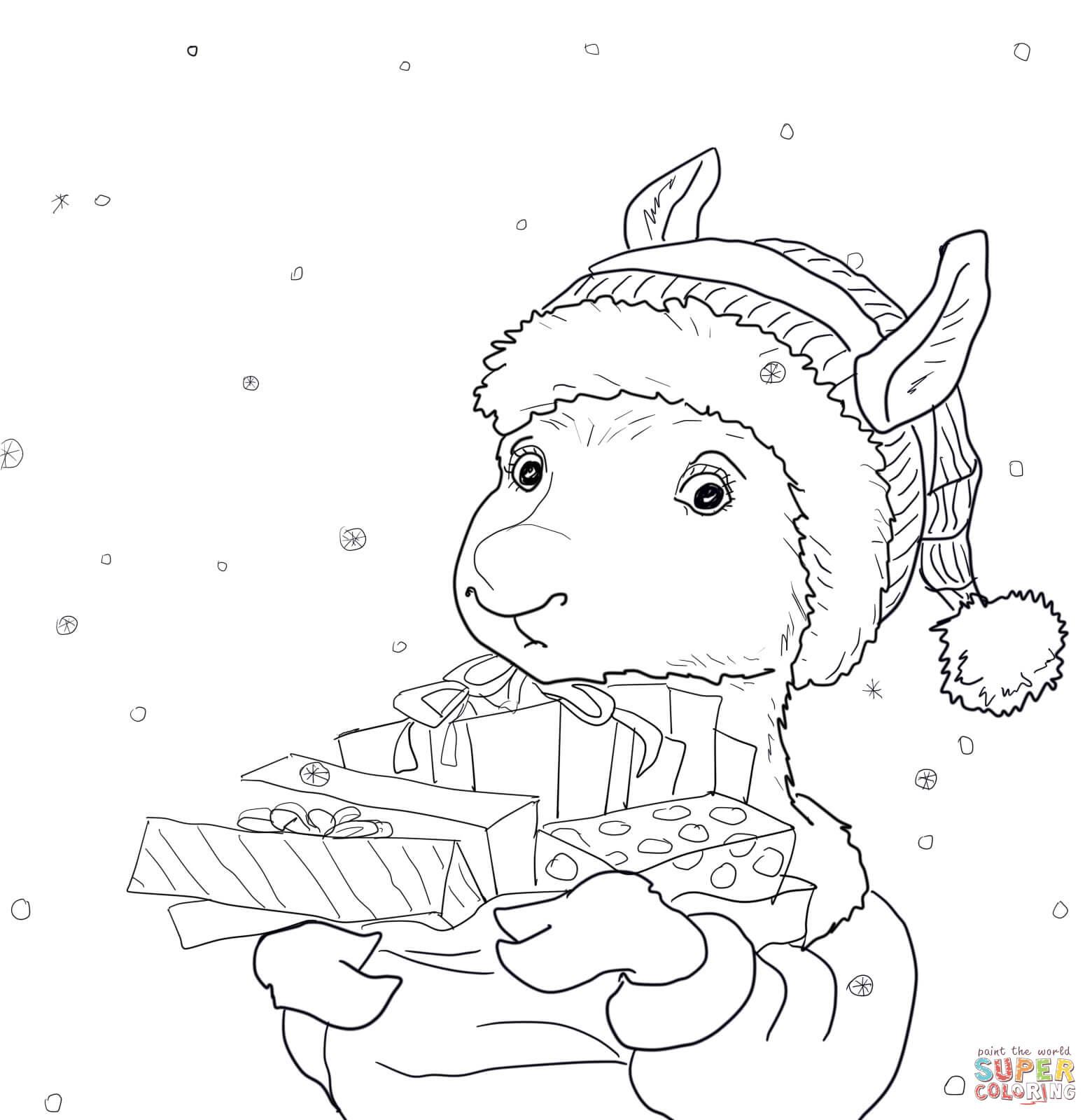 1560x1600 Llama Coloring Page