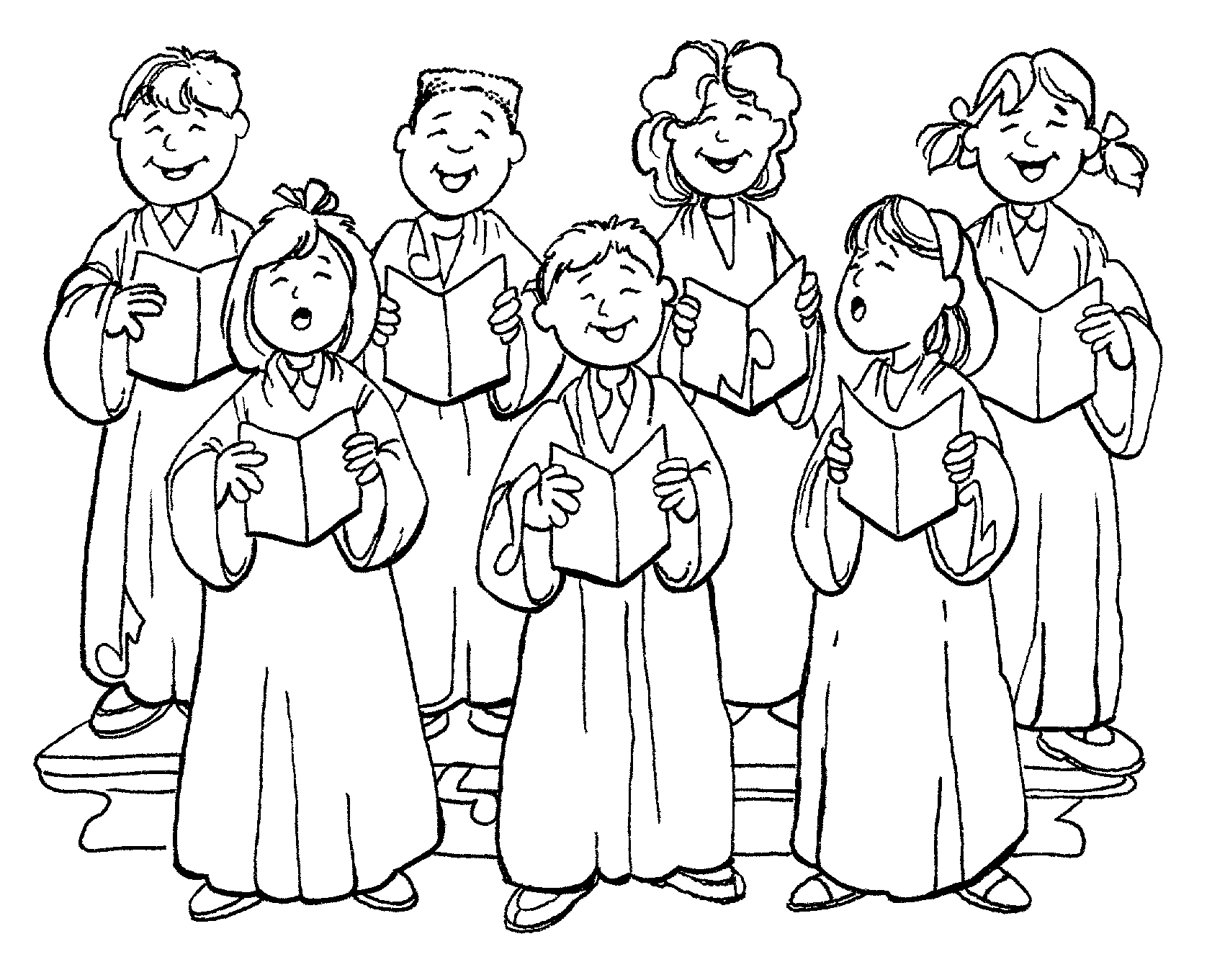 1701x1361 People At Church Coloring Page Tower With Bell Pages