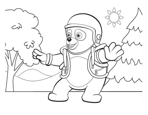 600x464 Special Agent Oso On Mission Coloring Page