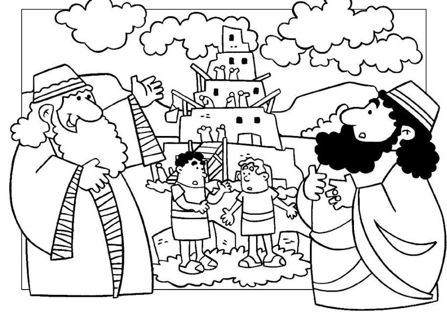 913x638 Tower Of Babel Coloring Pages