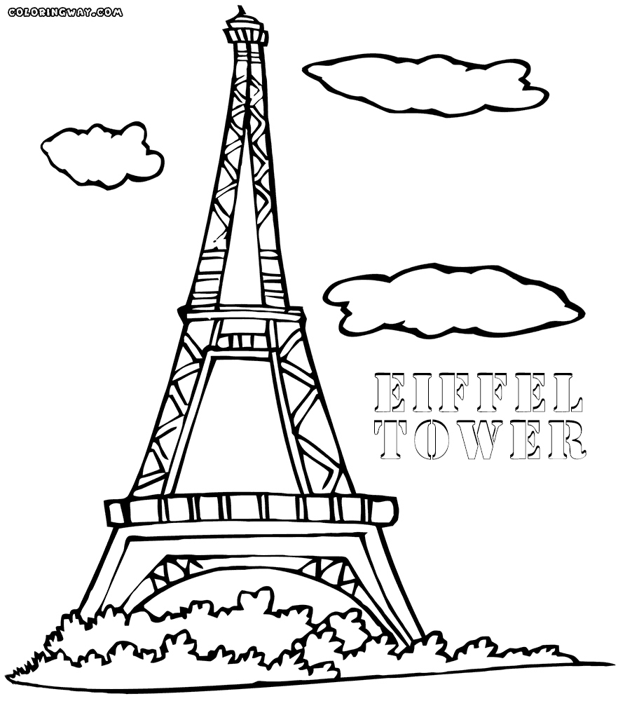 882x1000 Fancy Printable Eiffel Tower Coloring Pages Festooning