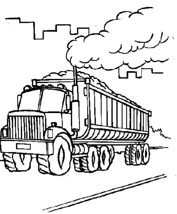 600x723 Factory Car Transporter Carrying Coal Coloring Pages Best Place