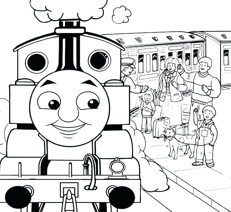 736x674 Train Color Pages Coloring Pages The Train The Train Coloring