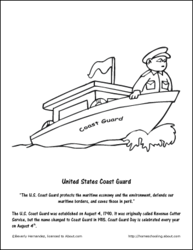 639x827 Coast Guard Coloring Pages
