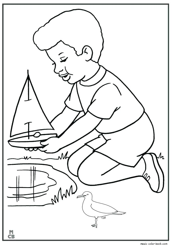 685x975 Coloring Pages Boats Coast Guard Boat Harbour With Boats Coloring