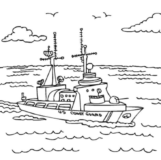 673x668 Free Printable Coloring Pages U S Coast Guard Ship Check Out