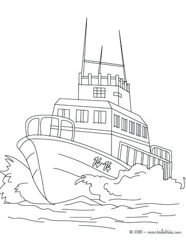 364x470 Police Boat Coloring Pages