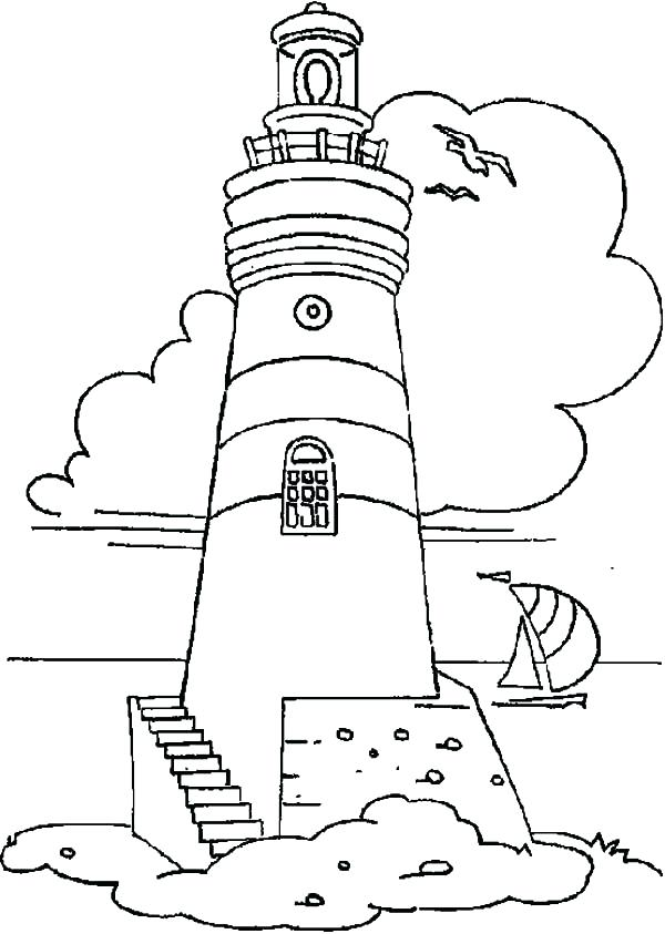 600x843 Coast Guard Boat Harbour With Boats Coloring Page Transportation